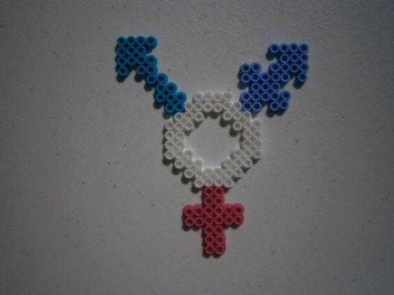 Perler Transgender Symbol by GeorgiaJewlery on Etsy