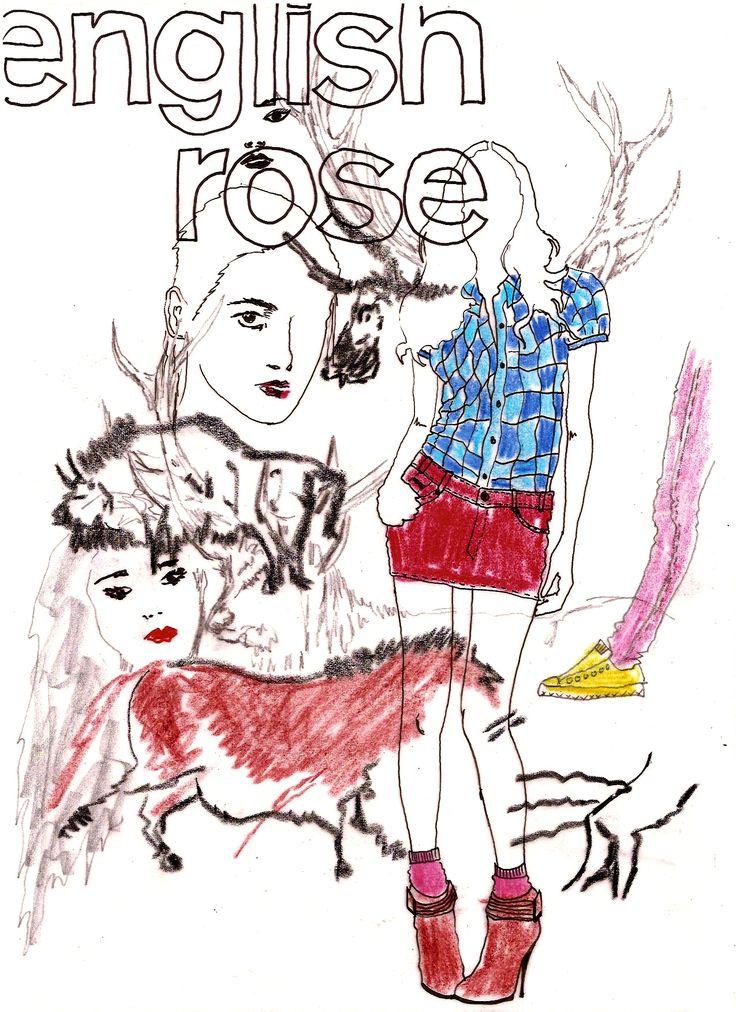 English Rose #illustration #delastella