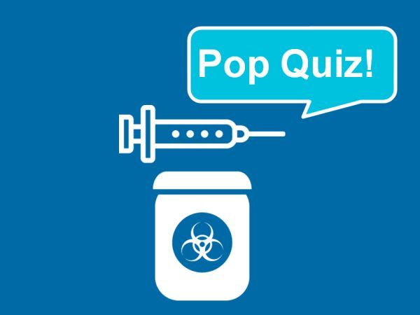 This is a quiz that someone should be able to complete easily after completing workplace bloodborne pathogens training.