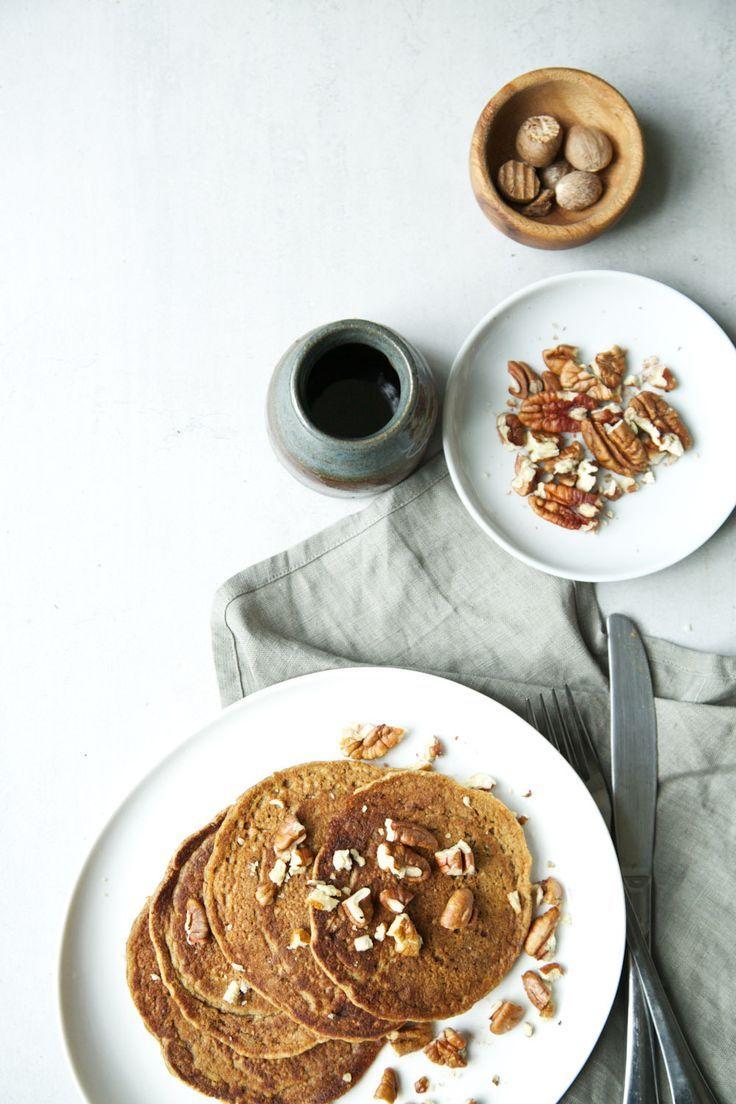 vegan pumpkin spice pancakes | breakfast | brunch | pancakes | coffee | Food…