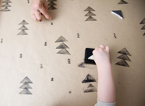 An easy way to create wonderful holiday wrapping paper (plus free download for matching gift tags).