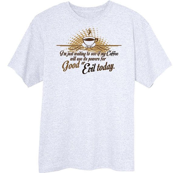 Coffee Powers Funny Novelty TShirt Z13790 by RogueAttire on Etsy, $18.99