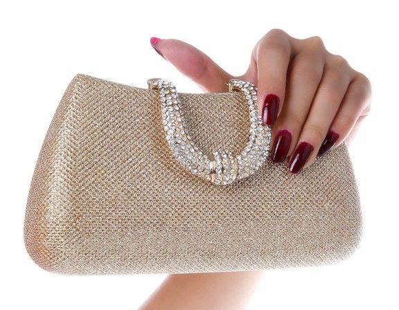 3792f126246e Women s Crystal U Diamond Clutch Glitter Bag