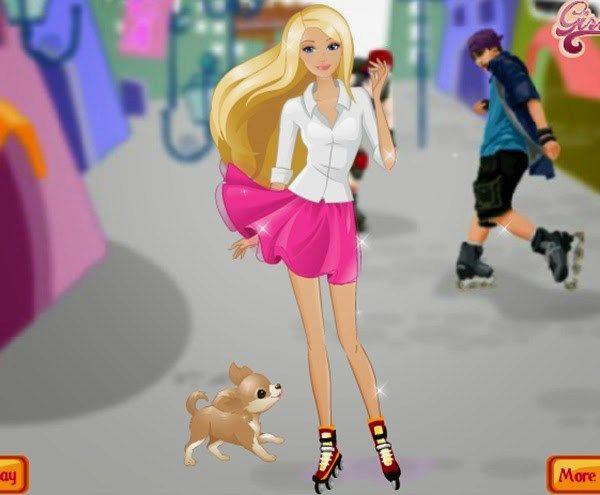 Jogar Barbie de Patins - Jogar Agora Online