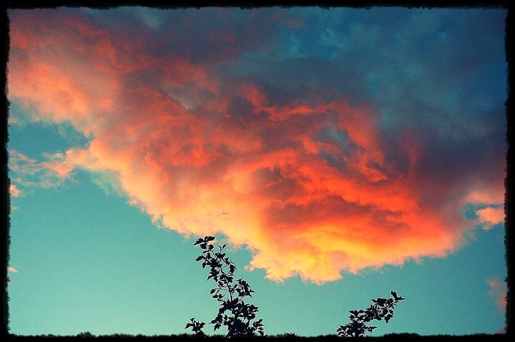 Summer sunrise, clouds on fire!!