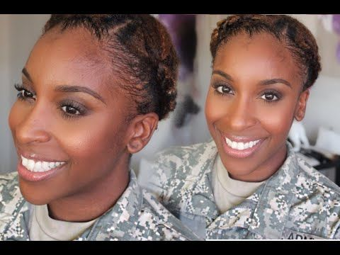 Image result for black military woman natural hair