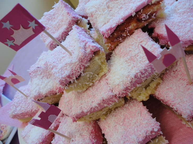 yummy marshmallow slices...also goes with the theme