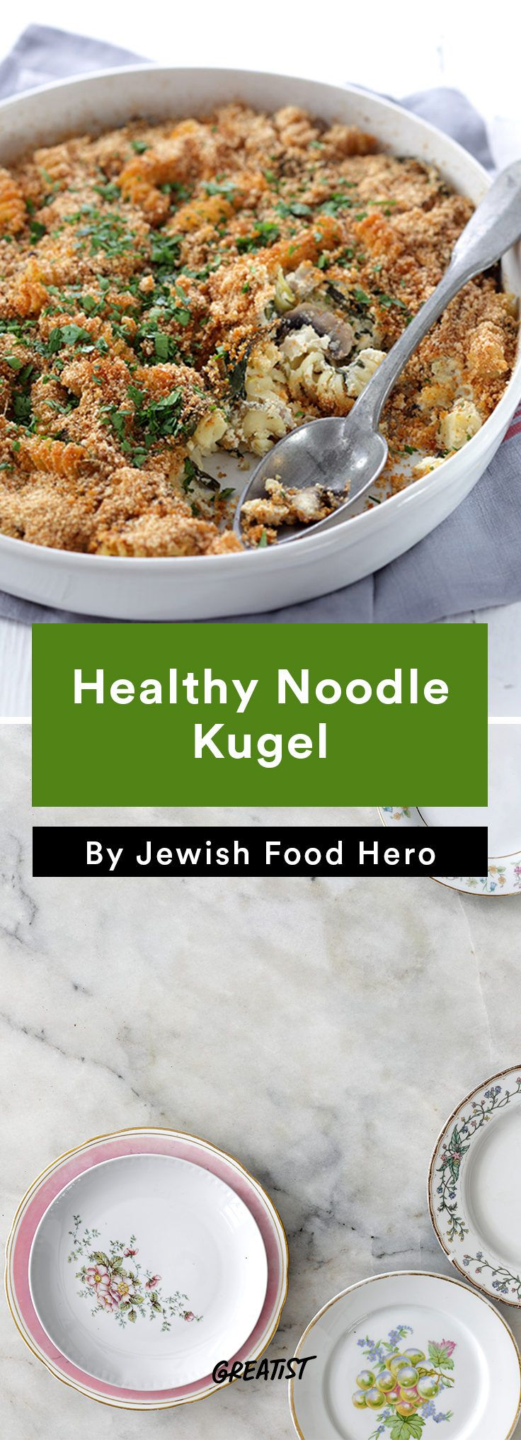 4. Healthy Noodle Kugel #vegetarian #kosher #recipes http://greatist.com/eat/jewish-food-recipes-that-revamp-the-classics