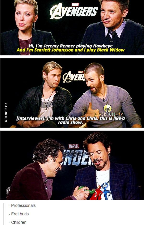 Three 'VERY' different categories of actors.  I love it, and it's so accurate too.