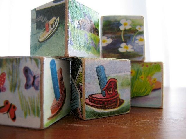 Vintage childrens' toy blocks.