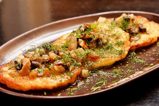 bramborák s houbami