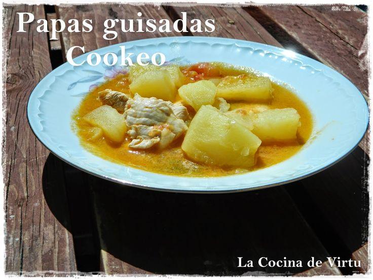 PAPAS GUISADAS CON POLLO por Virtudes Gonzalez ~ Recetas Cookeo