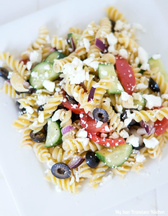1000 ideas about greek pasta salads on pinterest recipe Pasta salad recipe cold