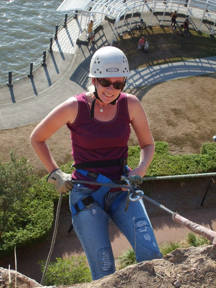 abseiling down the 20 metre high cliffs in no time