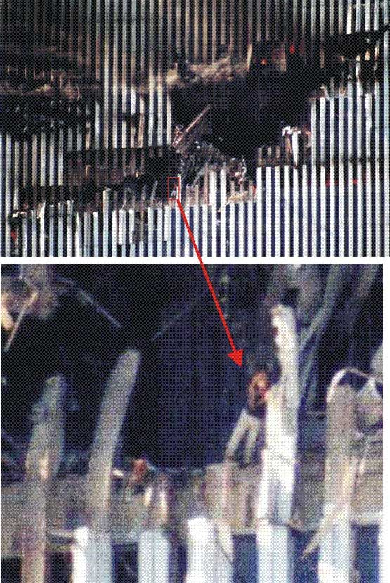 I've read about her before., it is suspected she was Edna Cintron, and employee on around the 94th floor, North Tower.