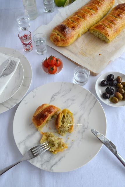 Salt Cod in Puff Pastry http://pepiskitcheninenglish.blogspot.gr/2016/03/salt-cod-in-puff-pastry.html