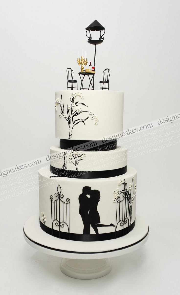 23 best silhouett images on Pinterest | Cake wedding, Silhouette ...