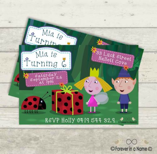 Ben-and-Holly-Themed-Birthday-Invitations