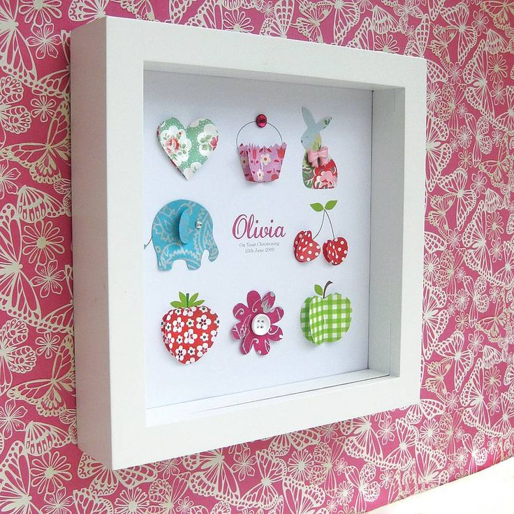 Personalised Baby Girl Icon Artwork