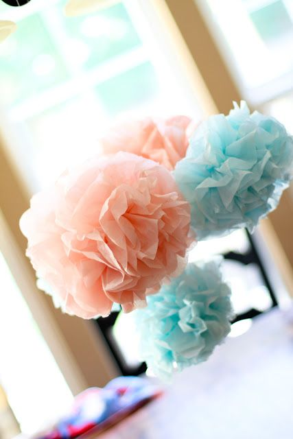 How to Make a Tissue Pom Pom | Scissors & Spatulas {and everything in between}Scissors & Spatulas {and everything in between}