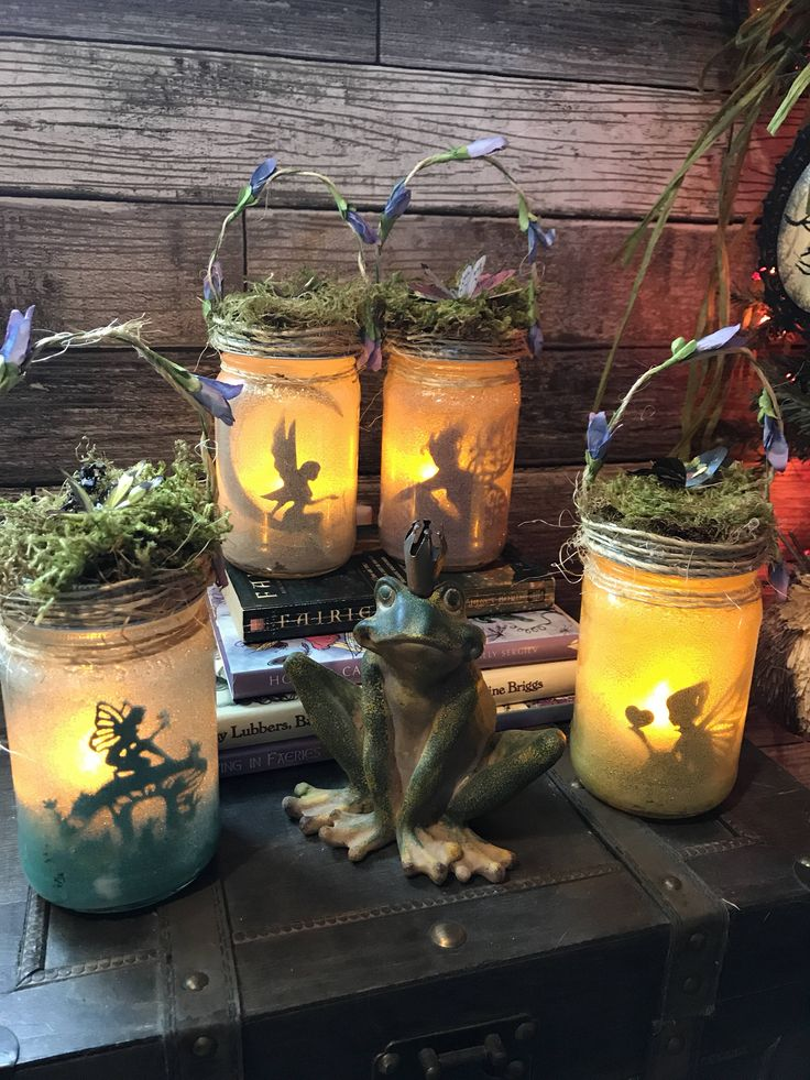 Fairy Jar Light Lantern, Captured Fairy Jars,Magical Nightlight, Child's Night Light,Fairy Tale Night Light,Enchanting Fairy Tale Decoration