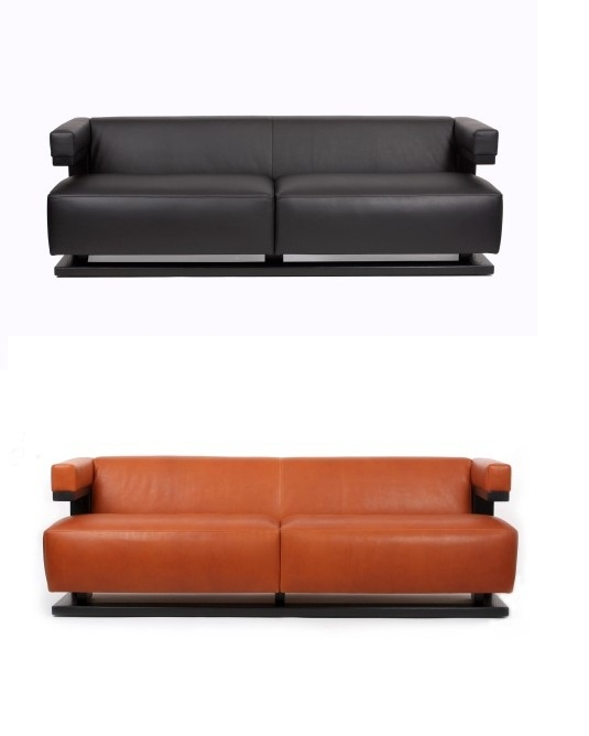F51-3. 1920. Three seat sofa from the F51 series; comes in brown, black, white, checkered black and white, yellow and red.