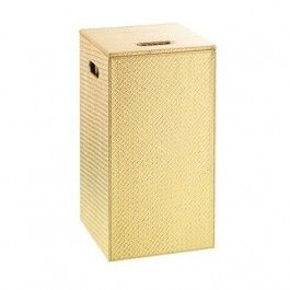 marrakech gold faux leather laundry bin u0026 stool laundry bin for a trendy bathroom the highest quality faux leather and mdf finished with gold
