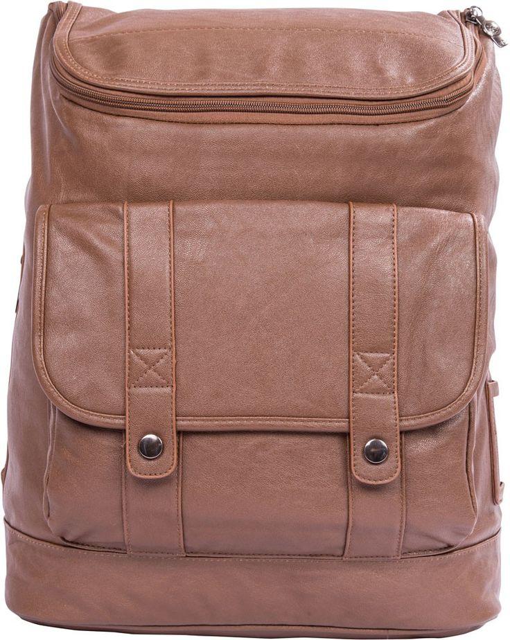 APE Leatherite Men's Handbag - Light Brown