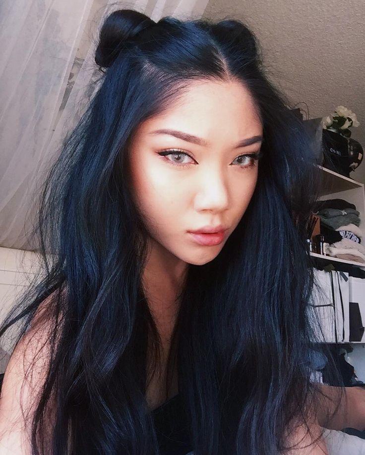 Black Hair Blue Tint