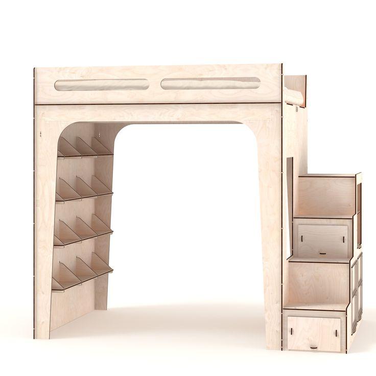 Lakhota loft bed | Letto a soppalco Lakhota. Made by TOTEM