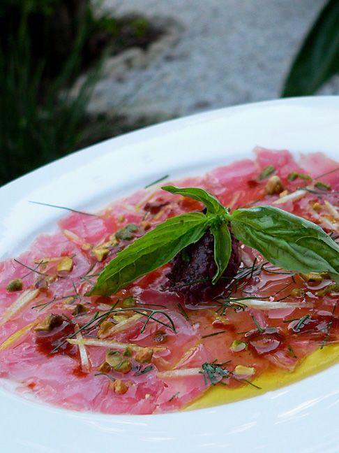 Tuna Carpaccio - Chef's Pencil