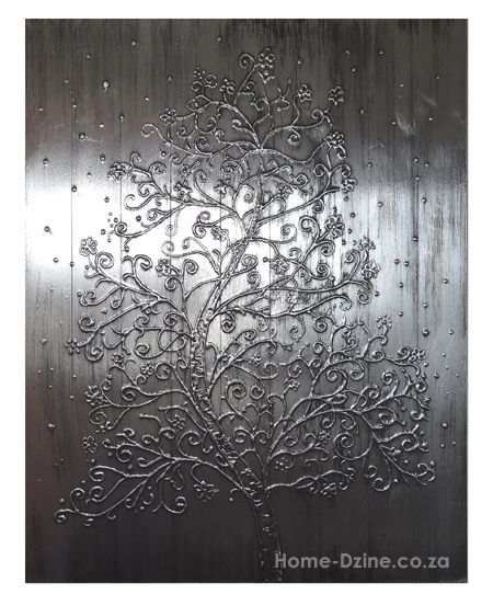 Tin-like artwork using aluminum tape.  Try embossing other flat-smooth items like leaves and string