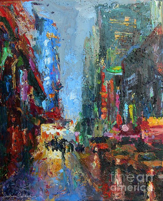 City New York Oil Painting On Canvas Wall Art For Living: 8 Best Contemporary Cityscape Art Paintings By Svetlana