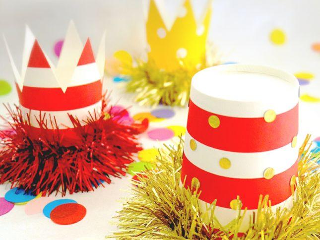 クリスマスパーティーやバースデーに!紙コップで作る、簡単パーティーハットの作り方|by kidsparty karen