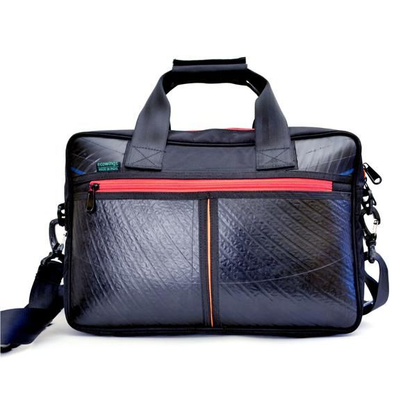 Ecowings  Panda  Laptop Office Bag - BLACK RED  bags  leatherbag ... 0bd49f2057759