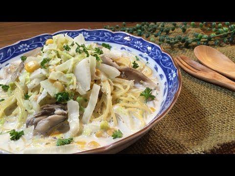 【動画あり】フライパン1つで!白菜と舞茸のコーンクリームスープパスタ by SHIMA | レシピサイト「Nadia | ナディア」プロの料理を無料で検索