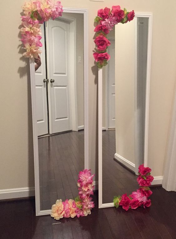 Diy Flower Mirror Tutorial Diy Flower Mirror Tutorial