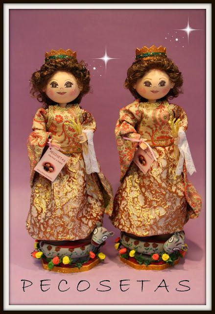 pecosetas: Fofucha Virgen Santa Marina- Pecosetas-