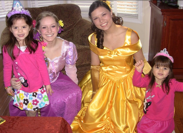 Invite a princess to your party in VA. They sing too!  princesspartiesbyheidi@comcast.net