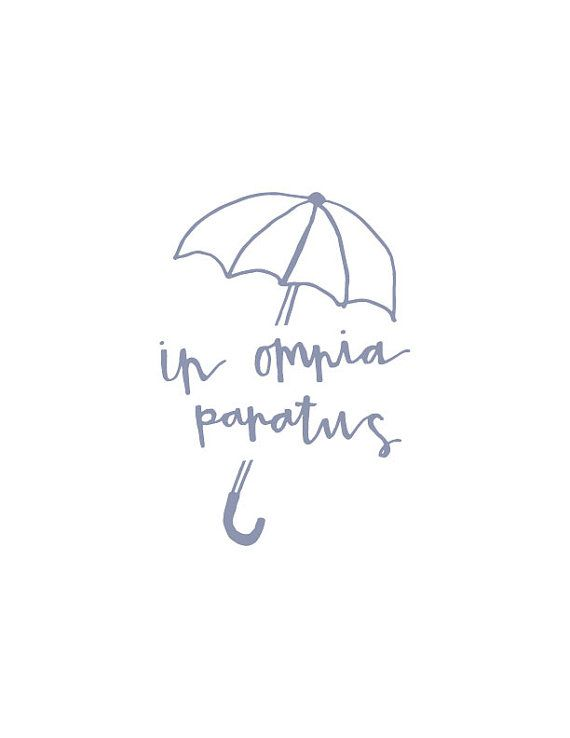 In Omnia Paratus Gilmore Girls print by wiredbyIzzy on Etsy #gilmoregirls