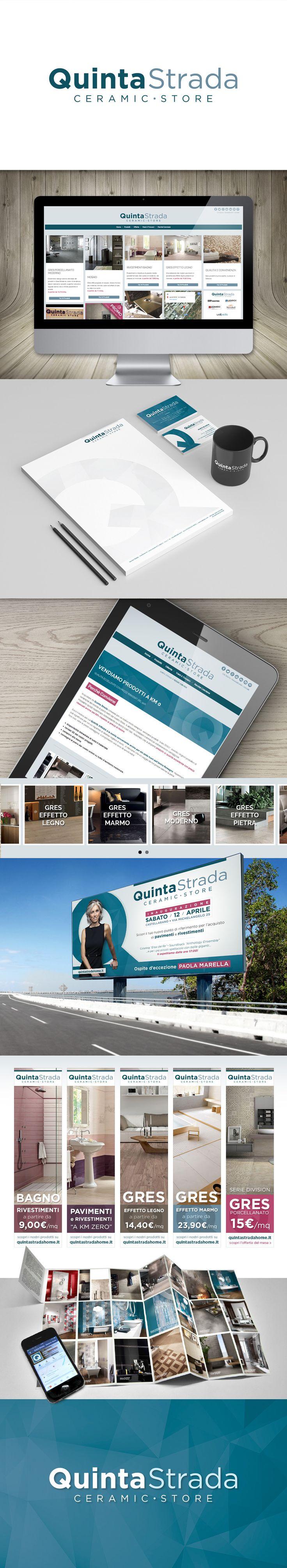 QuintaStrada - Commercio pavimenti e rivestimenti. Quinta Strada Ceramic Store è il nuovo punto di riferimento per l'acquisto di pavimenti e rivestimenti.  #naming #logodesign #brandidentity #webdesign #webmarketing #socialmarketing #graphicdesign #stampa