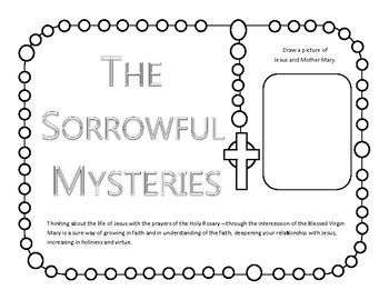 **SAVE** money by buying the Rosary Mysteries as a BUNDLE!!! Are you looking for a hands on way to pray the Rosary with your children or students? This resources will keep your children or students engaged through the whole rosary. These color your own rosary cut outs are a fun hands-on way to teach kids about the rosary.