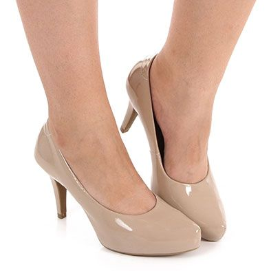 Sapato Scarpin Conforto Feminino Usaflex by Perfetto - Nude