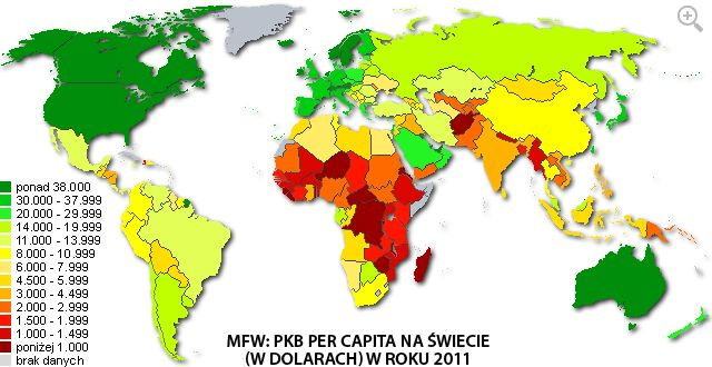 GDP per Capita (by IMF). Click on site to zoom.
