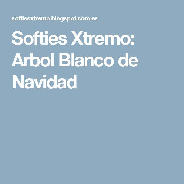 Softies Xtremo: Arbol Blanco de Navidad
