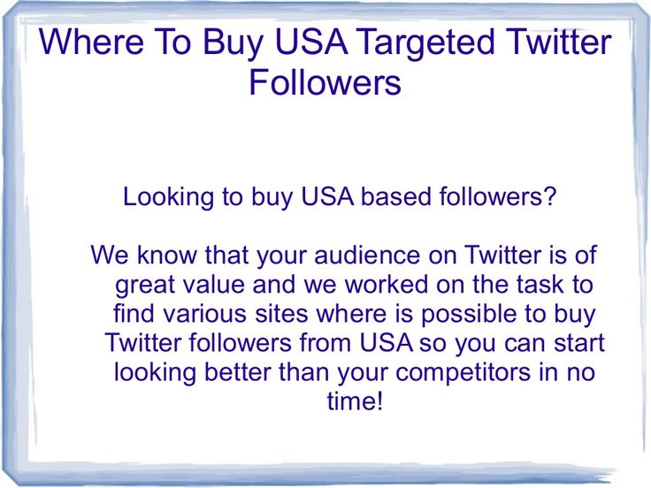 Buy usa twitter followers by Traffic Guy via slideshare