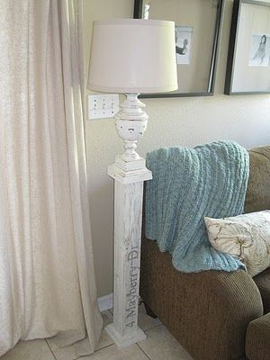 turn a table lamp into a floor lamp. good to know! I already have a pillar...