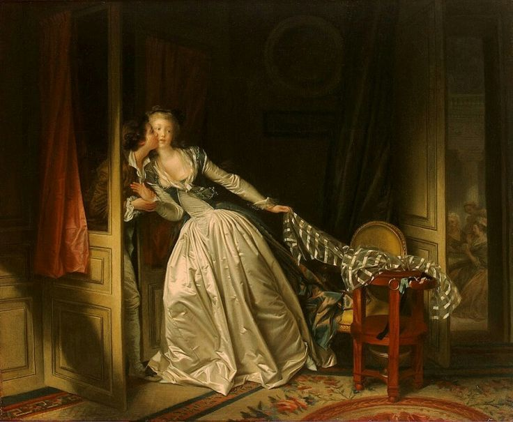 The stolen kiss by Jean honore fragonard