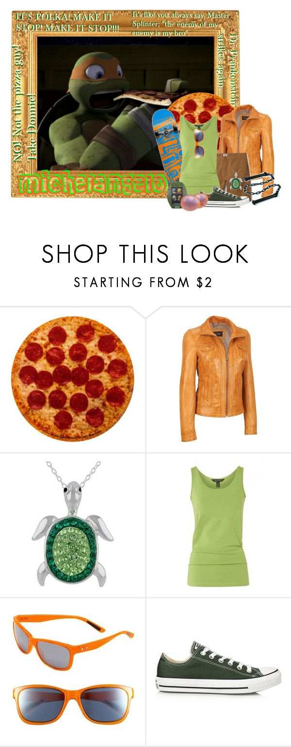 """""""TMNT: Michelangelo"""" by goddess-of-moonlight ❤ liked on Polyvore featuring Oakley, Converse and plus size clothing"""