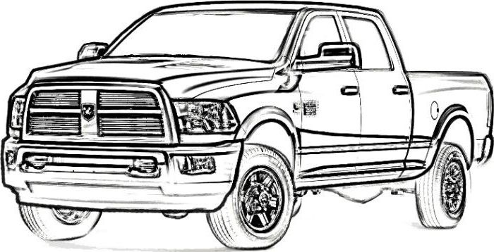 - Dodge Ram Coloring Pages Truck Coloring Pages, Monster Truck Coloring  Pages, Cars Coloring Pages
